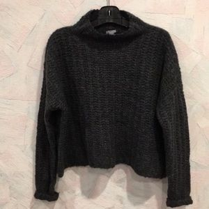 New Aerie Mock Neck Chunky Knit Sweater